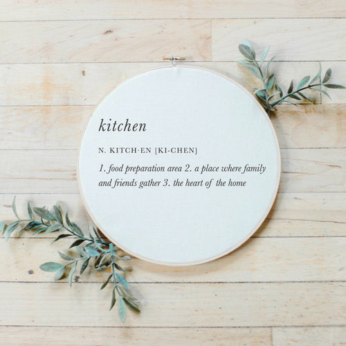 Kitchen Definition Faux Embroidery Hoop