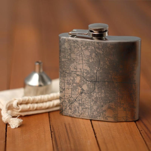 Orlando - Florida Map Hip Flask