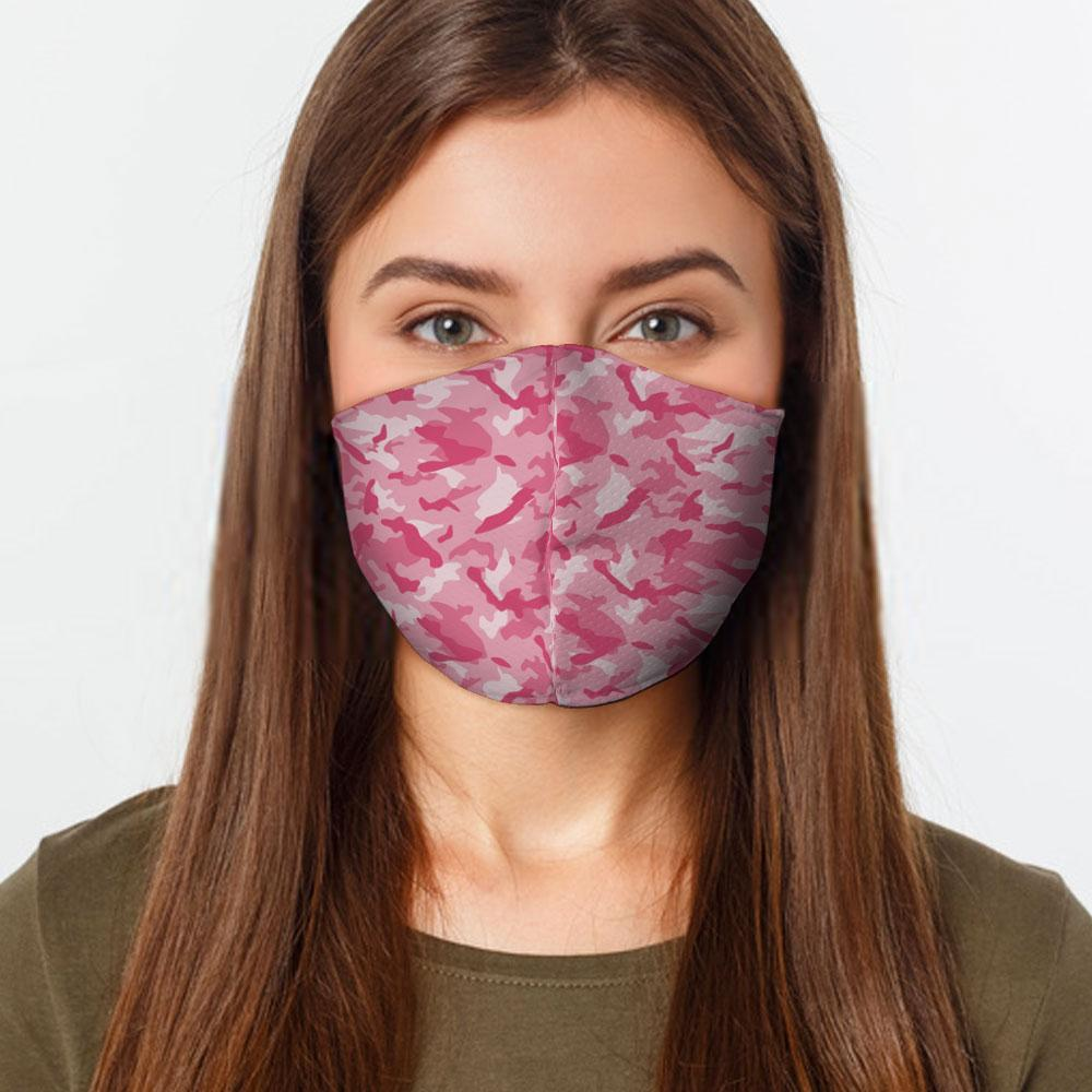 Pink Camo Face Cover