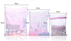 Zippered Mesh Laundry Wash Bags for Delicates Lingerie, Socks, & Underwear
