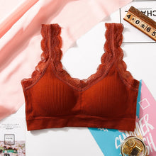 Load image into Gallery viewer, Lace  Seamless Wireless Push Up Bra