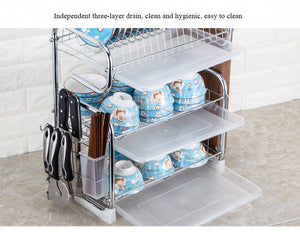 Kitchen Sink Cutlery Drain & Storage Rack
