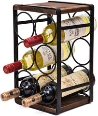 Image of Wood Countertop Wine Rack