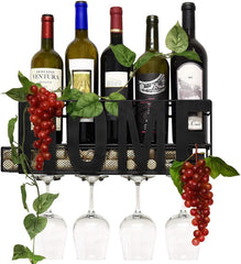Metal Wall Mounted Wine Rack
