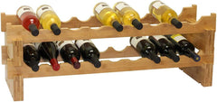 Stackable Bamboo Wine Rack