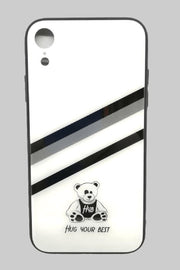 WHITE GLASS SMARTPHONE COVER