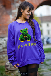 PURPLE GLAMOR SWEATSHIRT