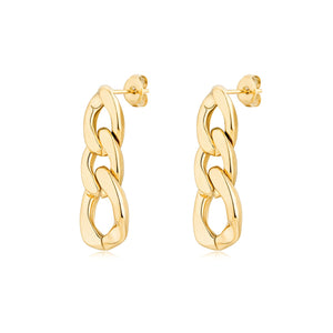 Lydie Gold Chain Link Earrings (Pre Order)