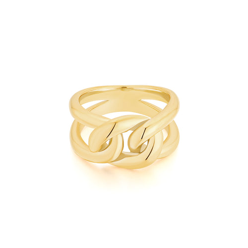gold chunky ring