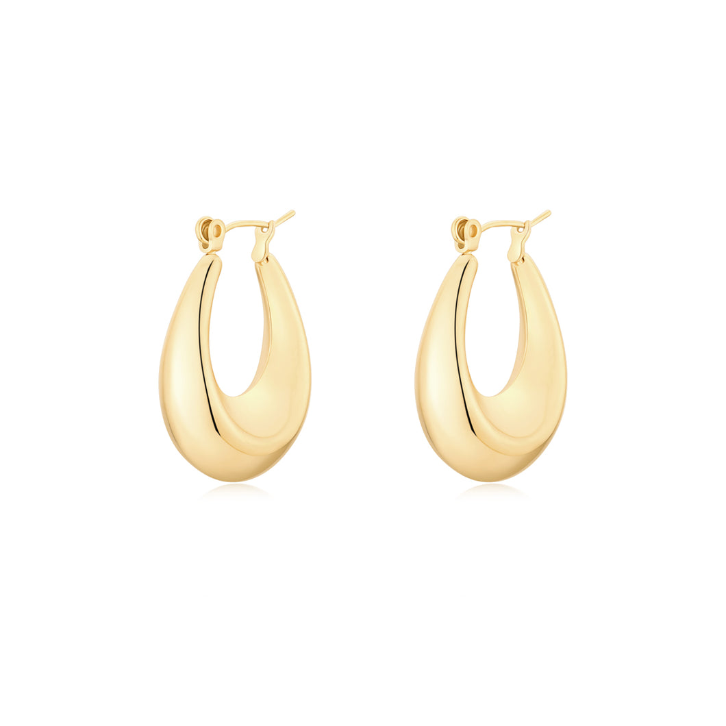 Alison Oval Hoop Earrings