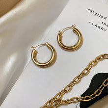 Load image into Gallery viewer, Gold Hoop Earrings