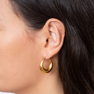 Darcey Gold Hoop Earrings