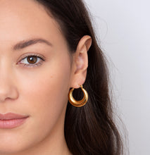 Load image into Gallery viewer, Darcey Gold Hoop Earrings