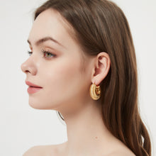 Load image into Gallery viewer, Ella Hoop Earrings