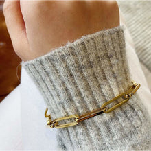 Load image into Gallery viewer, Gold Chain Link Bracelet