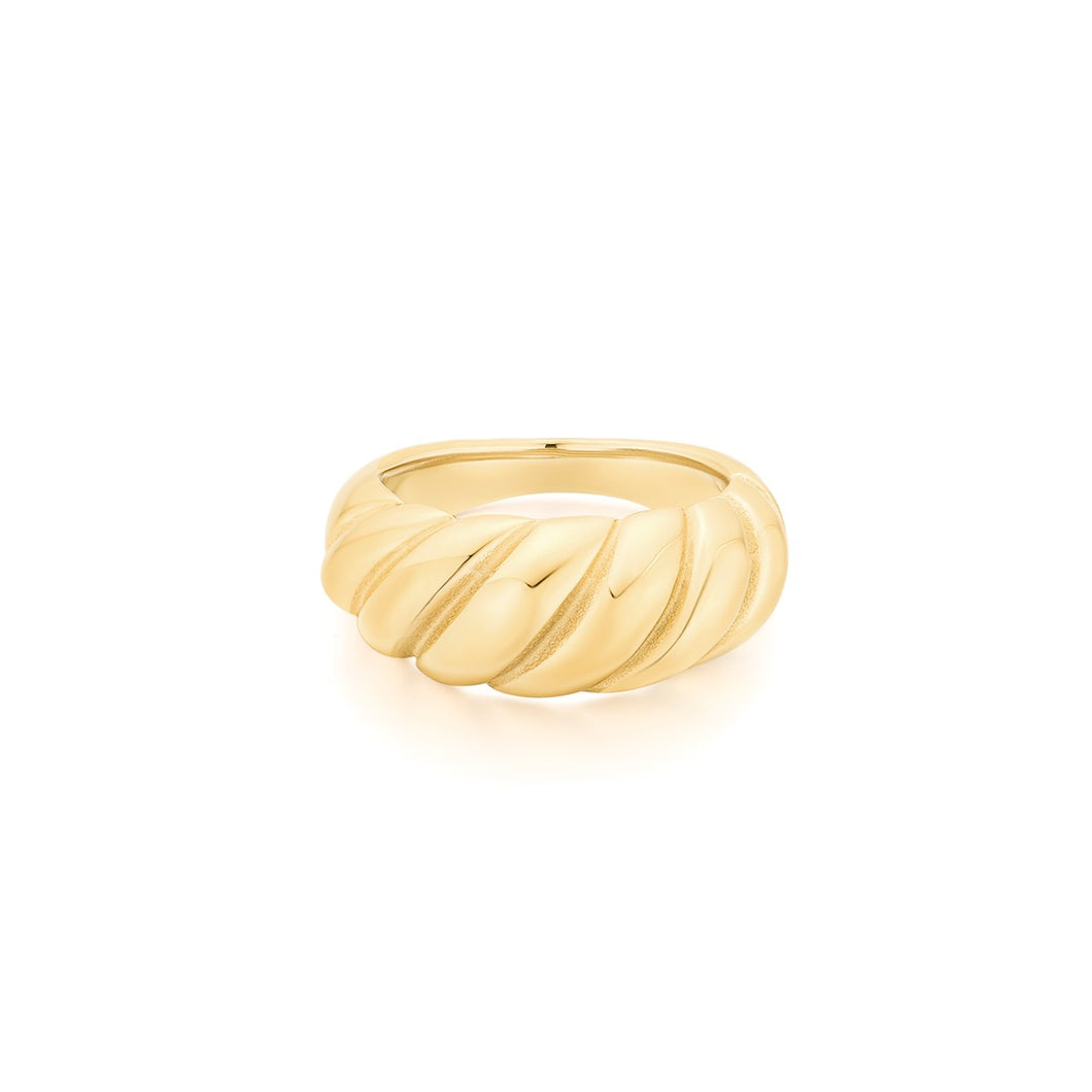gold dome crossiant ring