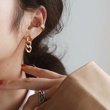 Load image into Gallery viewer, Lydie Gold Chain Link Earrings (Pre Order)