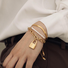 Load image into Gallery viewer, Carole Padlock Bracelet