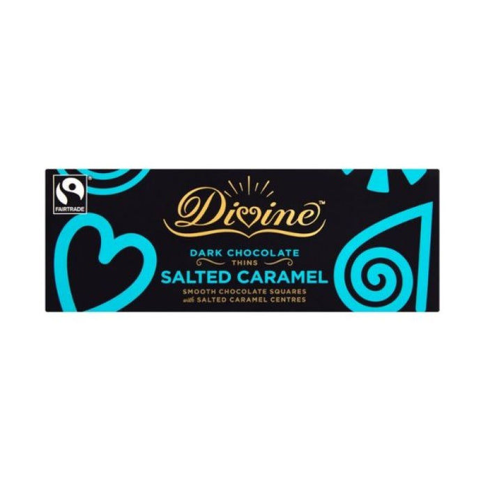 AFTER DINNER DARK CHOCOLATE SALTED CARAMEL THINS 200G