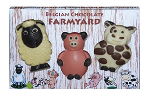 CHOCOLATE FARMYARD ANIMALS TRIO - 85G