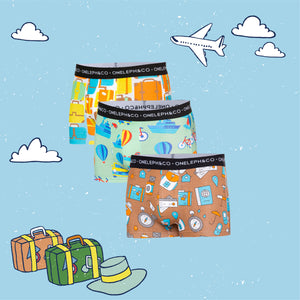 Travel Men's Printed Trunks Pack of 3