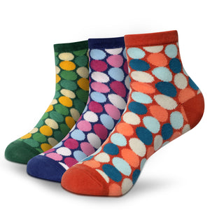 POLKA DOTS Men's Ankle Length Socks Pack of 3