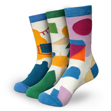 Load image into Gallery viewer, FORM MEETS FLOW Men's Calf Length Socks Pack of 3