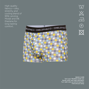 Polka Dots Men's Printed Trunks Pack of 3