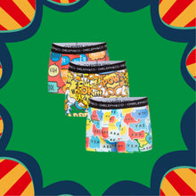 Load image into Gallery viewer, Pop-Up Men's Printed Trunks Pack of 3