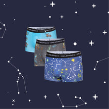 Load image into Gallery viewer, Constellation Men's Printed Trunks Pack of 3