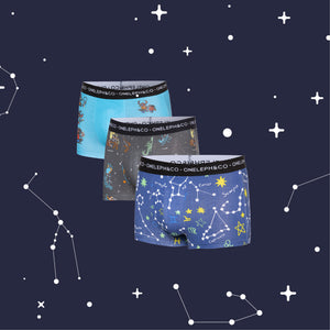 Constellation Men's Printed Trunks Pack of 3