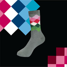 Load image into Gallery viewer, RAINBOW CRISS CROSS Men's Calf Length Socks Pack of 3