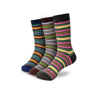 STRIPES 1 Men's Calf Length Socks Pack of 3
