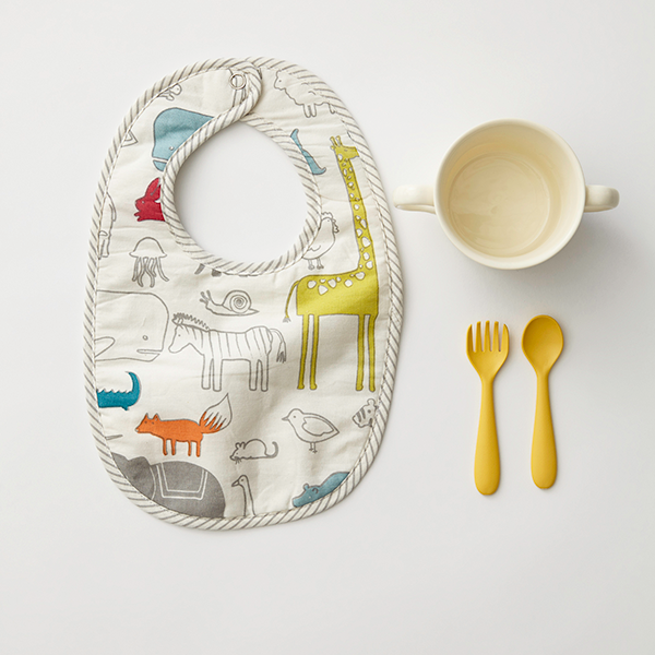 Noah's Ark & Painted Dots Bibs, Set of 2