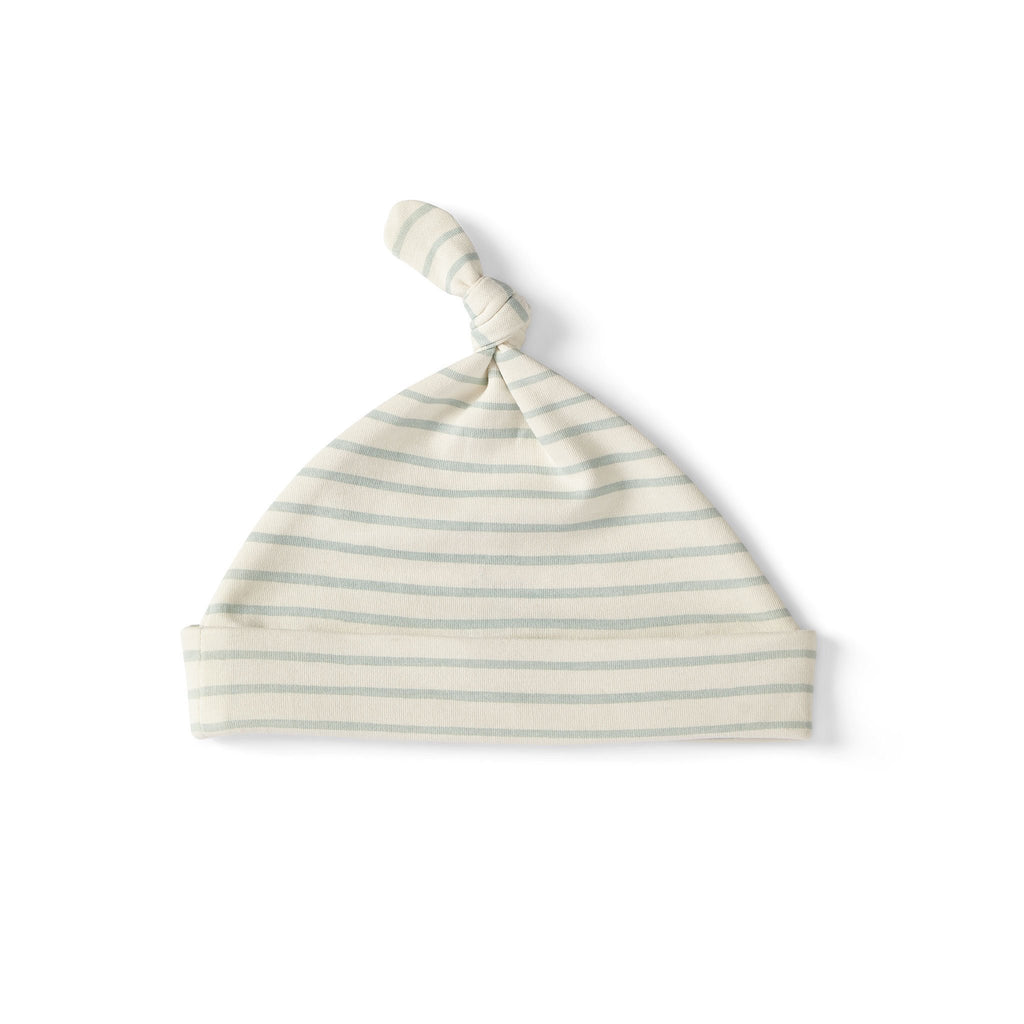 Stripes Away Knot Hat Sea