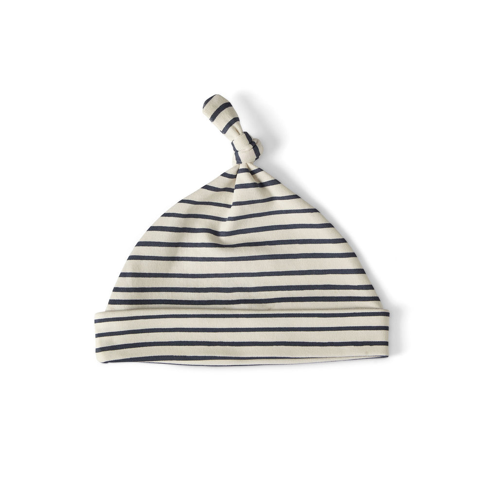 Stripes Away Knot Hat Ink