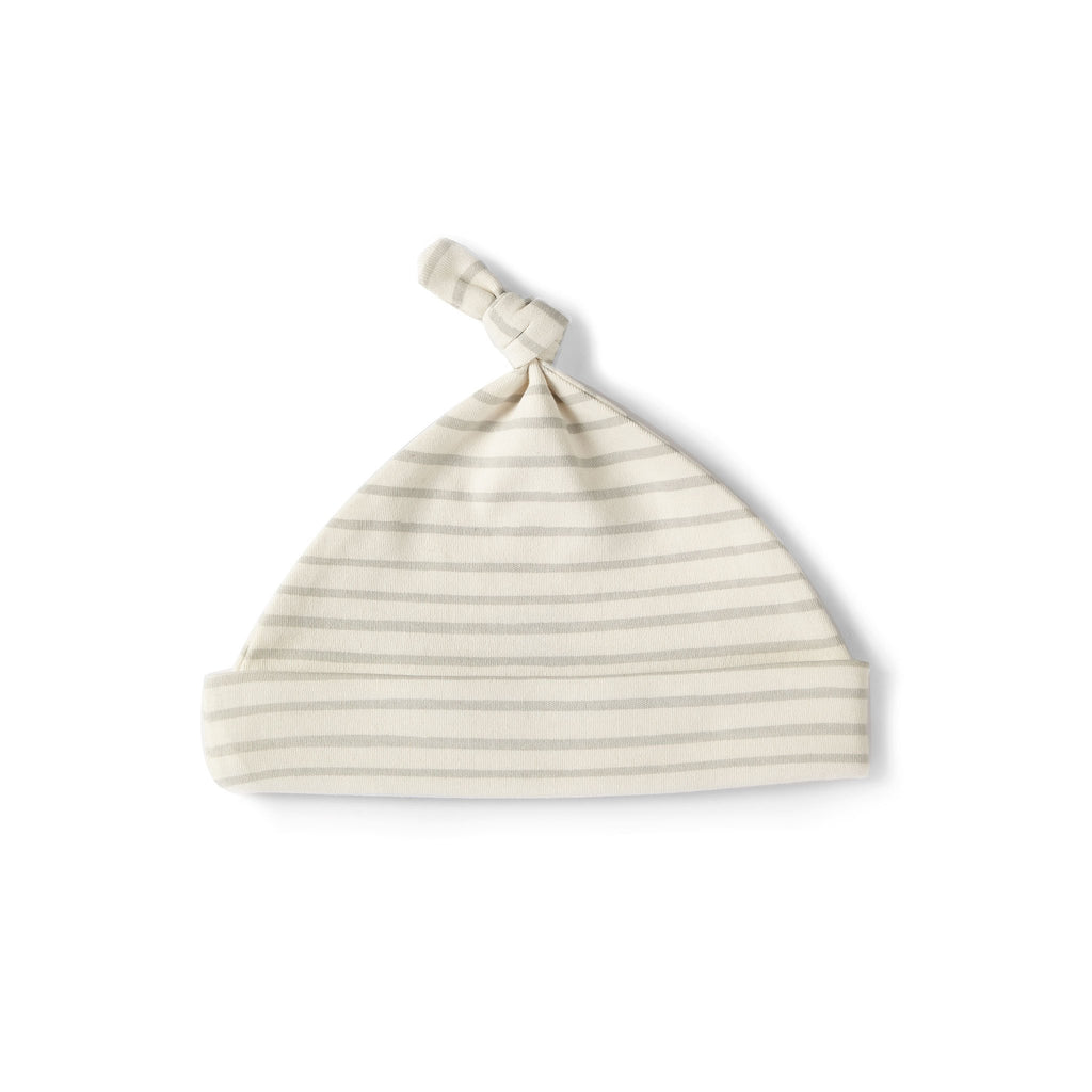 Stripes Away Knot Hat Pebble