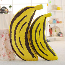 Load image into Gallery viewer, 1pc 30-100cm 2 Patterns Real life fruit pillow Banana Corn pillows Plush stuffed vegetable cushion Soft fabric Child's Xmas gift