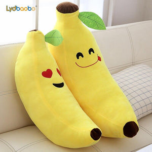 Funny Creative Cartoon Banana Stuffed Soft Pillow Sofa Cushion Baby Lovely Plush Doll Kids Fruit Toys Children Birthday Gifts