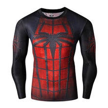 Load image into Gallery viewer, Compression Shirt Workout Training Fitness Men Cosplay Rashgard Plus Size Bodybuilding T shirt 3D Printed Superman Tops For Male