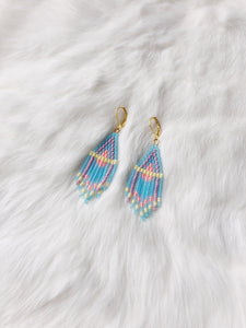 mini earrings - translucent sky blue