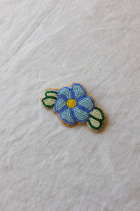 Blue Floral Pin by Dustin Henry