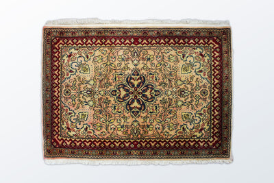 Qom Zarocharak 66 × 95 Cm - Wool Persian Carpet