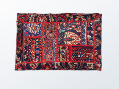 Mat Patchwork 59×88 cm - Wool Persian Carpet