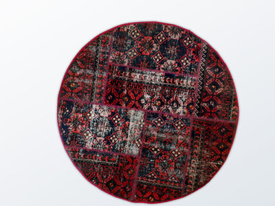 Circle Patchwork 122 cm (dm) - Wool Persian Carpet
