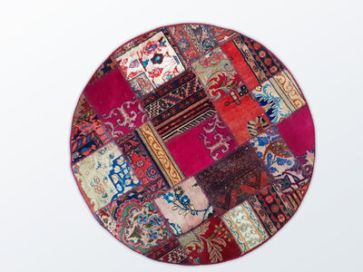Circle Patchwork 124 cm (dm) - Wool Persian Carpet