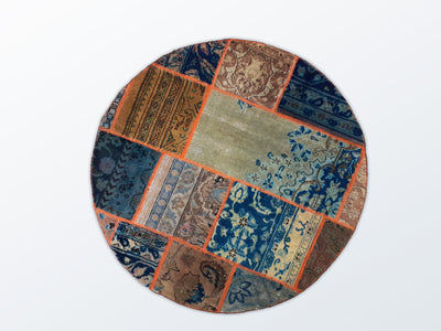 Circle Patchwork 99 cm (dm) - Wool Persian Carpet