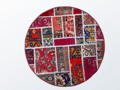 Circle Patchwork 112 cm (dm) - Wool Persian Carpet