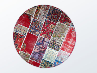 Circle Patchwork 145 cm (dm) - Wool Persian Carpet
