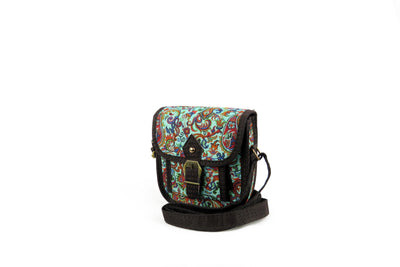 Women's Mini Satchel - Wool Persian Carpet